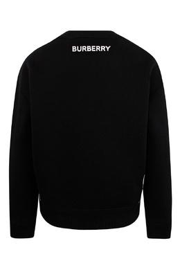 Черный свитшот с принтом Burberry Kids 1253151610