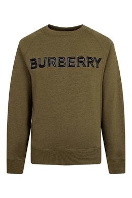 Зеленый свитшот с логотипом Burberry Kids 1253151619