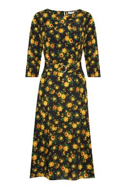 Шелковое платье с цветочным принтом Claudie Pierlot 2631151427