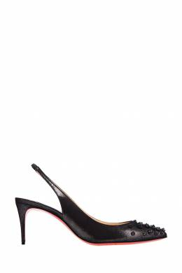 Кожаные туфли с шипами Drama Sling 70 Christian Louboutin 10687939
