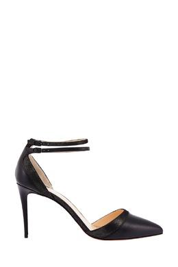Черные туфли с блестящей отделкой Uptown Double 85 Christian Louboutin 10687956