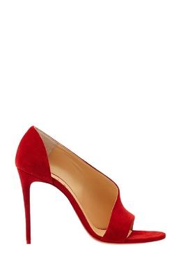 Красные замшевые туфли Phoebe 100 Christian Louboutin 10685360