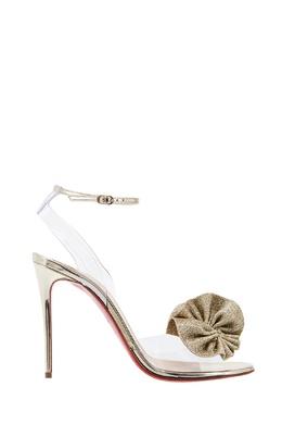 Прозрачные туфли с бантом Fossiliza 100 Christian Louboutin 10689180
