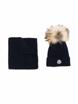 Moncler Kids комплект из шарфа и шапка бини 009510604S01