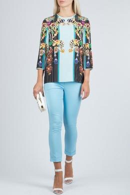 Укороченные брюки голубого цвета Flavio Castellani 3028152139