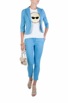 Голубые укороченные брюки Flavio Castellani 3028152126
