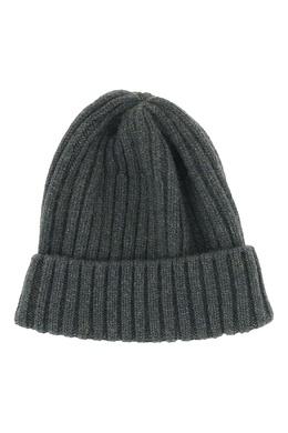 Зеленая шапка-бини с отворотом Fedeli 680152281