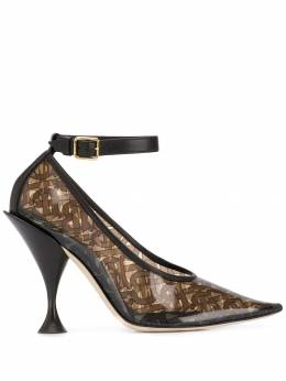 Burberry monogram pointed pumps 8020362