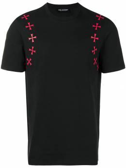 Neil Barrett Maltese cross printed T-shirt PBJT434SH523S