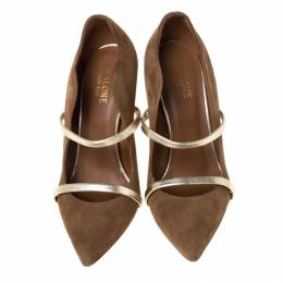 Malone Souliers Brown Suede Pumps Size 36 226208