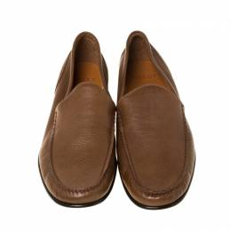 Bally Brown Leather Suelo Slip On Loafers Size 46 225759