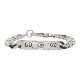 Gucci Silver Gucci Ghost Chain Bracelet 201451M14236301GB