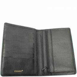 Chanel Black Leather Card Case