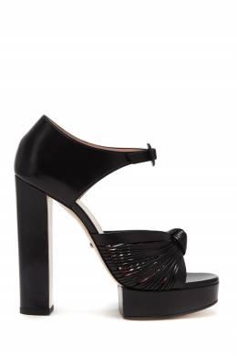 Черные босоножки с отделкой Gucci 470151642