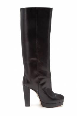 Черные кожаные сапоги Gucci 470151598