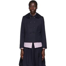 Comme Des Garcons Girl Navy Wool Gabardine Jacket 192670F06304604GB