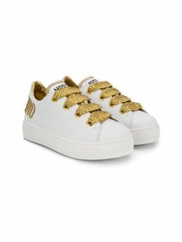 Moschino Kids двухцветные кроссовки 61772702
