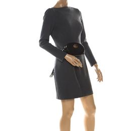 Gucci Black Leather GG Marmont Matelassé Belt Bag 223781