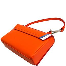 Emilio Pucci Orange Leather Micro Pilot Shoulder Bag 222989