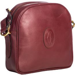 Cartier Red Leather Must De Cartier Crossbody Bag