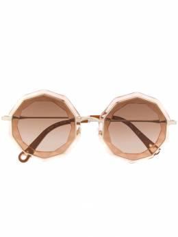 Chloe Eyewear солнцезащитные очки в массивной оправе геометричной формы CE160S