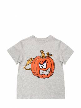 Футболка Из Хлопкового Джерси С Принтом Stella McCartney Kids 70I6SJ013-MTQ2MQ2