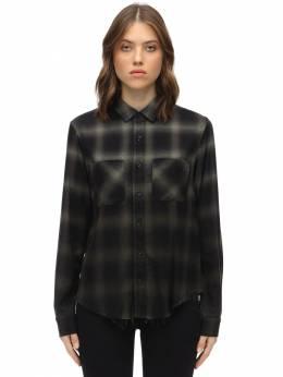 Фланелевая Рубашка Из Хлопка И Вискозы Amiri 70I5L3008-R1JFRU41