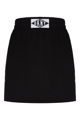 Черная юбка с широким поясом DKNY 1117149003