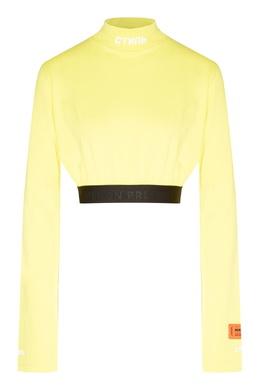 Желтый свитшот с отделкой Heron Preston 2771151950