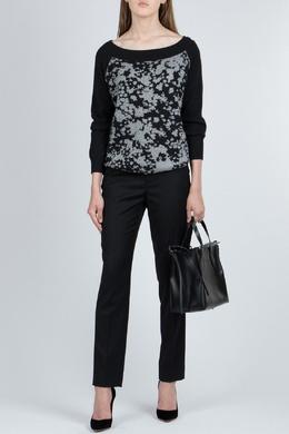 Черный свитер с серыми разводами Patrizia Pepe 1748152623