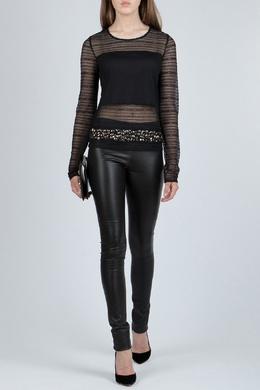 Черная полупрозрачная блуза с декором Patrizia Pepe 1748152616