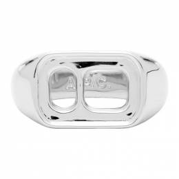 A.P.C. Silver Ethan Ring 192252M14700802GB