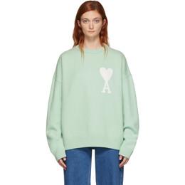 Ami Alexandre Mattiussi Green Oversized Ami De Coeur Sweater 192482F09600301GB