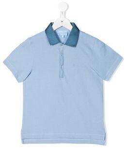 Lanvin Enfant рубашка-поло с контрастным воротником 4K8001KA080607