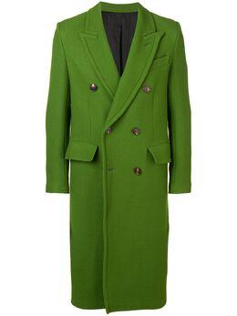 Ami Paris двубортное пальто с накладными карманами H19M110224