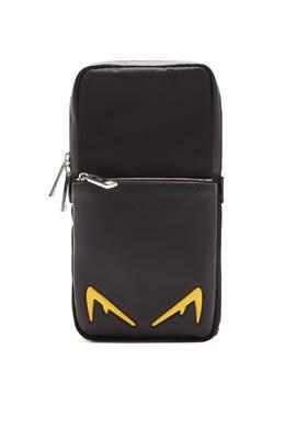 Черный рюкзак на одно плечо Diabolic Eyes Fendi 1632152920