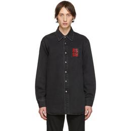 Raf Simons Black Denim Regular Fit Shirt 192287M19200301GB