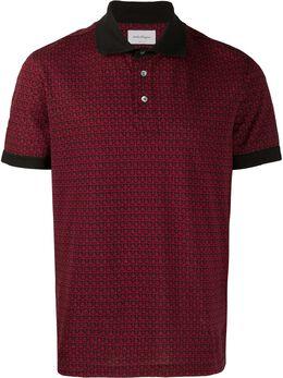 Salvatore Ferragamo - рубашка-поло Gancini из ткани пике 36695039856000000000
