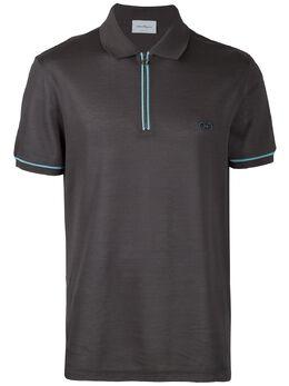 Salvatore Ferragamo - рубашка-поло с контрастной окантовкой 96595039939000000000