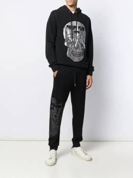 Philipp Plein - спортивные брюки с декором Skull CMJT9565PJO660N95656