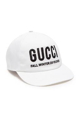 Белая бейсболка с надписью Gucci 470151654