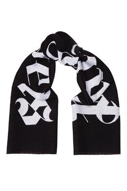 Черный шарф с логотипом Palm Angels 1864152590