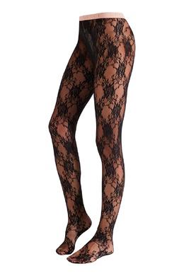 Черные ажурные колготки Gucci 470151671