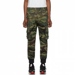Faith Connexion Green Patrol Camo Cargo Pants 192848M18800103GB