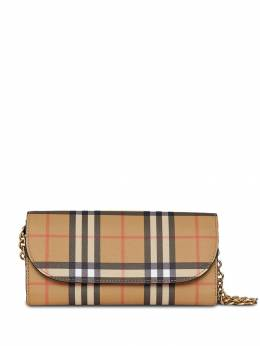 Burberry - Vintage Check and Leather Wallet with Chain 30069083693900000000
