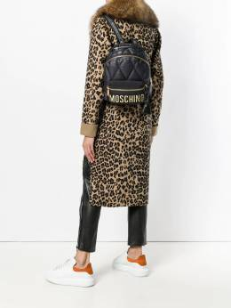 Moschino - quilted logo backpack 65806393909890000000