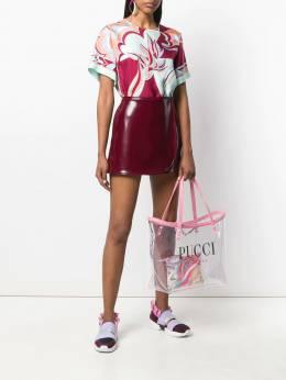 Emilio Pucci - прозрачная сумка-тоут с логотипом C539H685935933000000