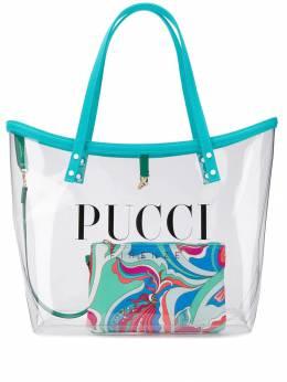 Emilio Pucci - прозрачная сумка-тоут с логотипом C539H685935933030000