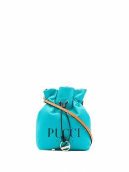 Emilio Pucci - парусиновая мини-сумка с логотипом D339H636935933380000