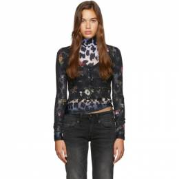 R13 Black Floral Baby Cardigan 192021F09500304GB